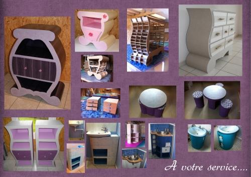 D co chez atelier cr atif domicile cr ation de meuble en carton et - Vente meuble en carton ...